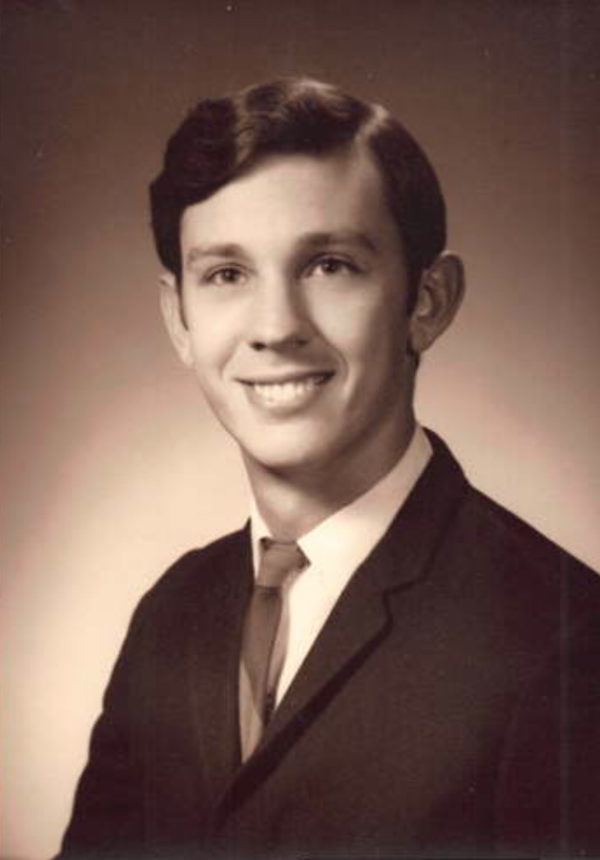 Alan Heaton in 1966, while studying at Duke University