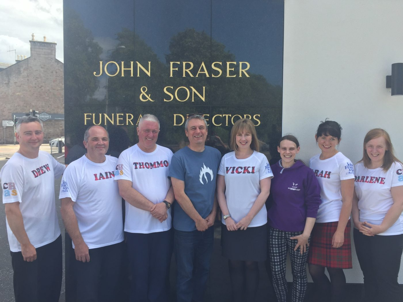 John Fraser & Son 10K 'Runners' with Kevin from the Inverness Coffee Roasting Co. and Elena from the Grumpy Chef